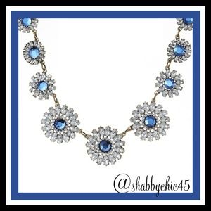Crystal Daisy Statement Necklace