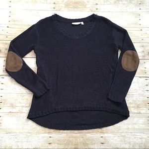 RD Style Women's High Low Navy Sweater