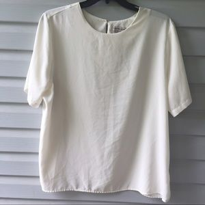 Vintage cream pull over blouse 2X