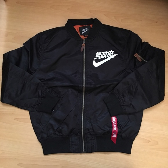 separation shoes sneakers a few days away Nike Jackets & Coats | Air Tokyo Black Bomber Jacket Large Anarchy ...
