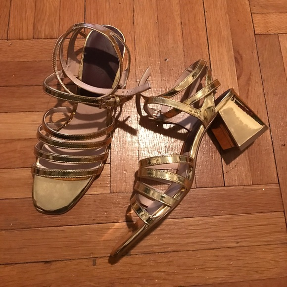Zara Shoes - Gold Sandals