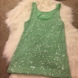 ADORABLE sequins old navy tank size L