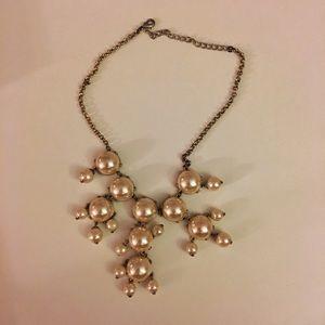 Francesca's Collection -Blush/Gold Bubble Necklace