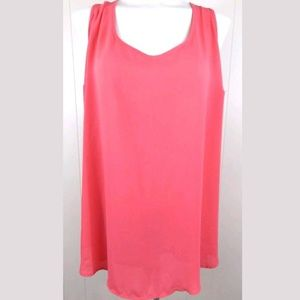 Torrid Semi Sheer Pink Chiffon Tank Top