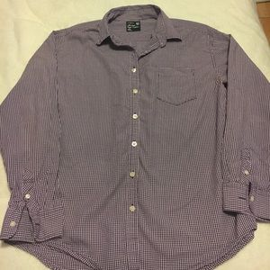 Purple Plaid AEO Long Sleeved Button Down