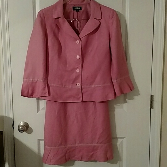 Kasper Wohndesign Outlet Landau: 2 Piece Pink Suit Skirt And Jacket