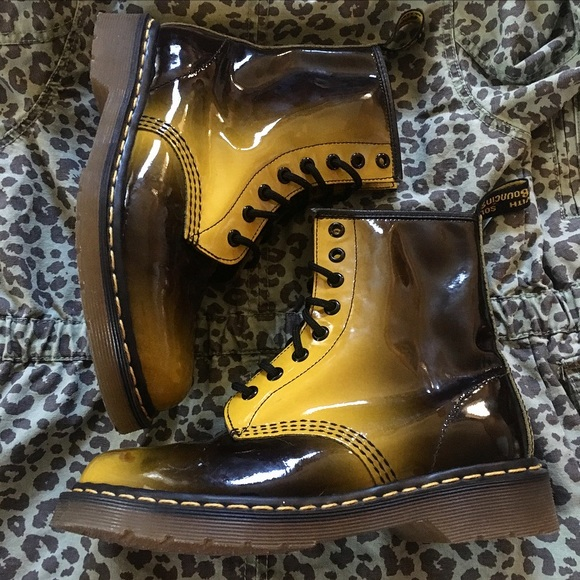 Black Yellow Doc Martens | Poshmark