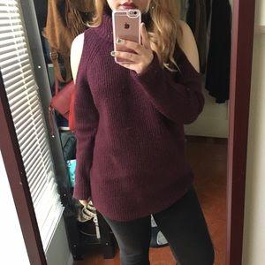 Forever 21 Cut Out Shoulder Turtleneck Sweater