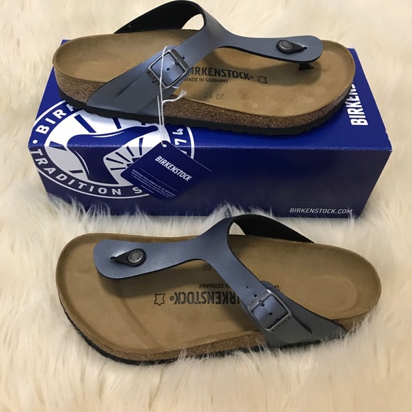ed27f9bfe2f NWT Birkenstock Gizeh onyx silver grey sandal 40 E