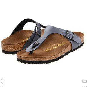 2b4d57bd9ee3 Birkenstock Shoes - NWT Birkenstock Gizeh onyx silver grey sandal 40 E