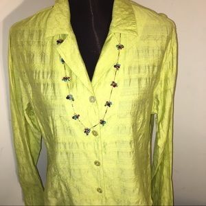 < Host Pick > CHICO'S SIZE 2 TEXTURED TOP