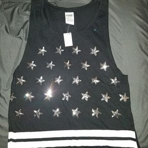 NWT Victoria's Secret PINK sequined tank XS
