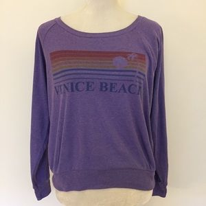 Venice Beach Purple Sunset Sweatshirt