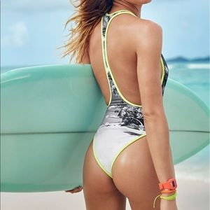 39eb0099419a5 PINK Victoria s Secret Swim - VS Beach Sexy Surf Zip High Cut one piece