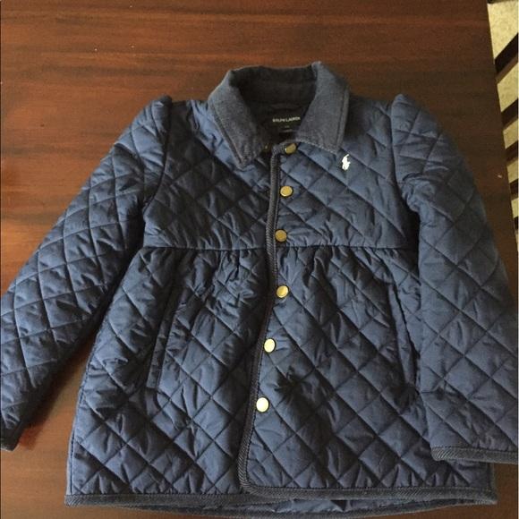 fe25c54e Ralph Lauren Girls Navy Quilted Barn Jacket