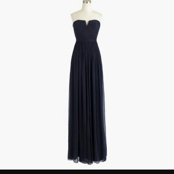 J. Crew Dresses | J Crew Black Evening Gown Dress Size 2 Nwt Long ...