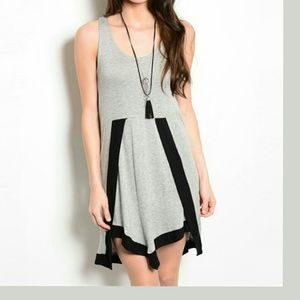 Grey Black Dress