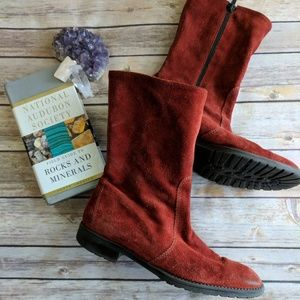 J. Crew Suede and Leather Rust Boots