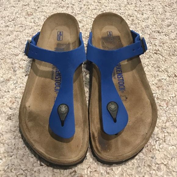 555eceae5ed7df Birkenstock Shoes - Birkenstock Gizeh Blue Nubuck 39 (size 9)