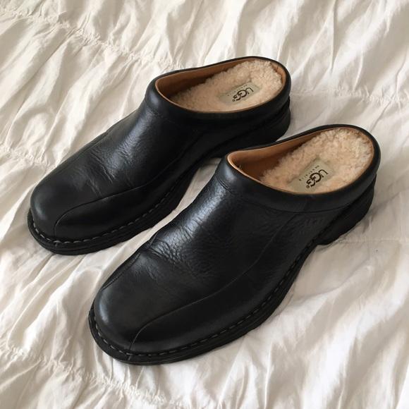 6db3f6ea7b0 UGG Slip-On Leather Clogs