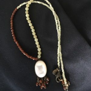 Jewelry - Mother of pearl, garner and citrine necklace