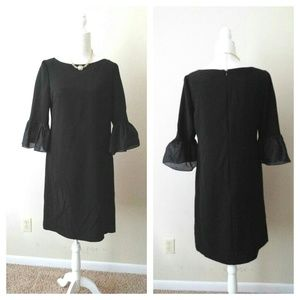 Donna Morgan bell sleeves black dress sz 10