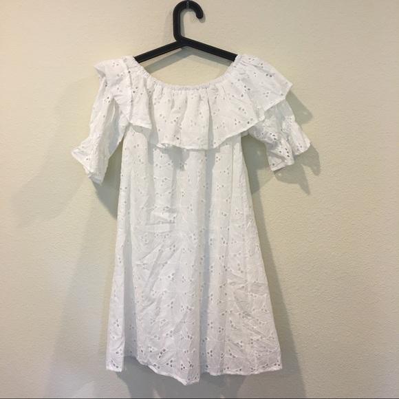 Dresses - Shein white ruffle off the shoulder dress