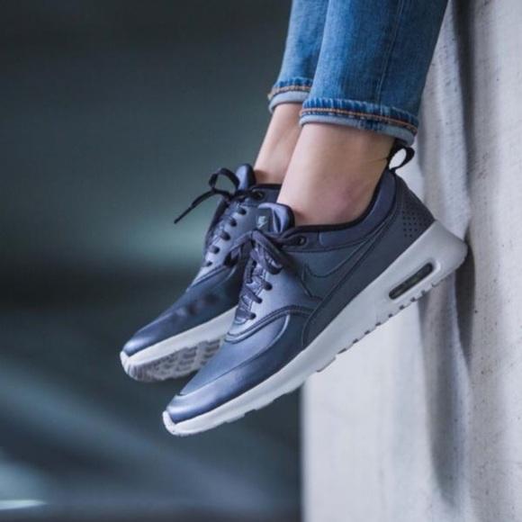 Nike Shoes | Nwt Air Max Thea Metallic Blue | Poshmark