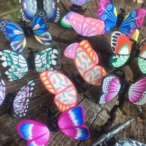 🦋 Butterfly Claw Hair Clips - Set of Six 🦋