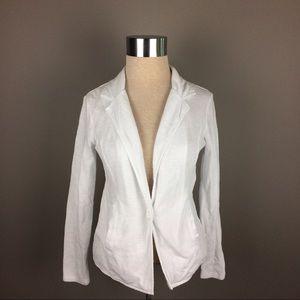 Caslon white knit casual blazer