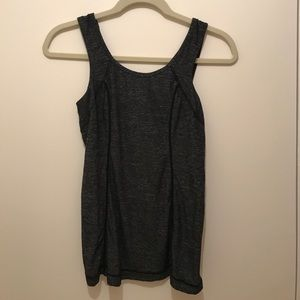 LuluLemon tank with pocket and ribbon detail
