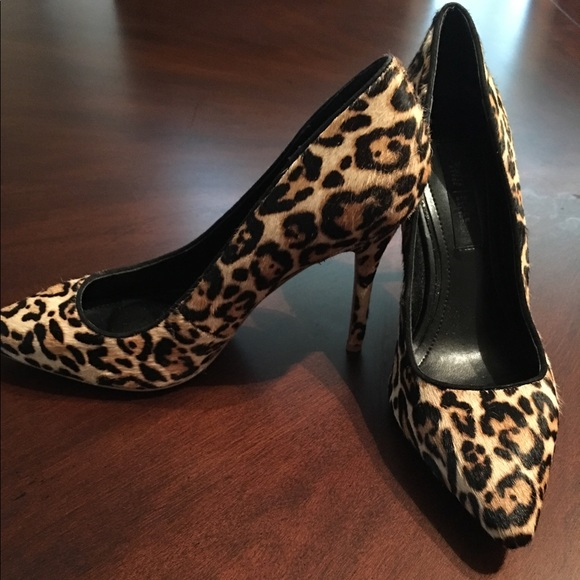 487520e94e84 White House Black Market Shoes | Olivia Leopard Haircalf Pumps ...