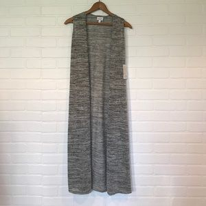 LuLaRoe Joy XS gray long vest NWT