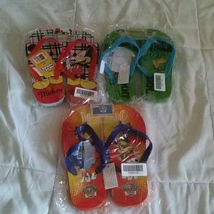 Kids Flip-Flops Bundle Disney Nickelodeon Size 2/3