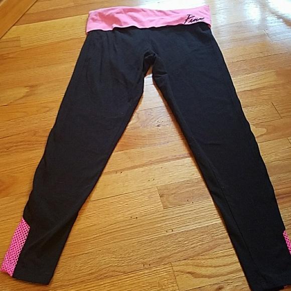 VS Pink Mesh Yoga Pants Medium From