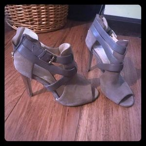 Taupe & Gray high heeled sandals