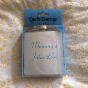 Accessories - Mommy's Juice Box Stainless Steel Flask NWT