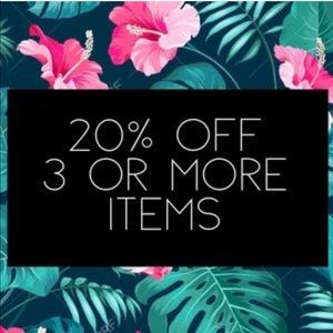 Make a bundle of 3+ items for 20% off!