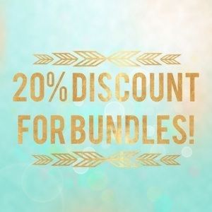 Other - Make a bundle of 3+ items for 20% off!