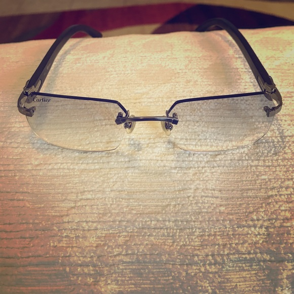 af9f872292 Cartier Other - Cartier Ibiza Eyeglasses - Platinum and Wood