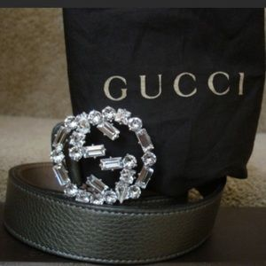5cf6a7b3b Gucci Accessories | Swarovski Crystal Cellarius Leather Belt | Poshmark