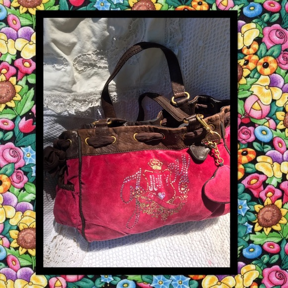 JUICY COUTURE Pink Fabric Tote USED CONDITION