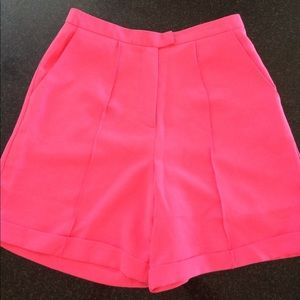NWT Bright Pink High Waisted Shorts S