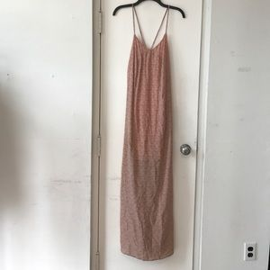 New Bella Luxx  SZ M Pink & Grey Maxi Dress