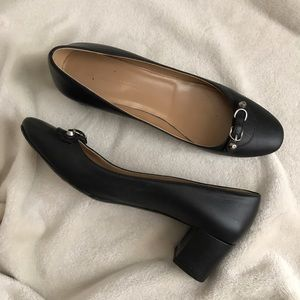 Balenciaga Black Leather Low Heels