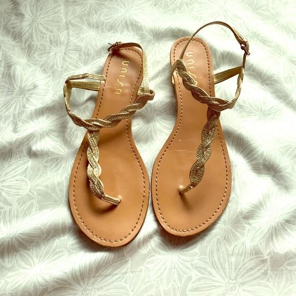 d6a345700d13 Unisa Shoes | Gold Glitter Sandals | Poshmark