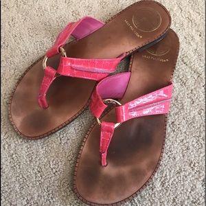 Lily Pulitzer flip-flops