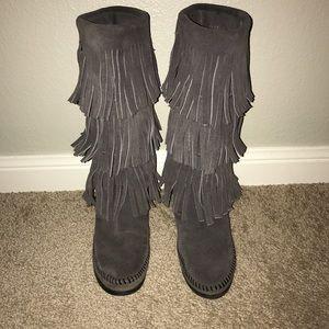 Women's Minnetonka Fringe Boots on Poshmark