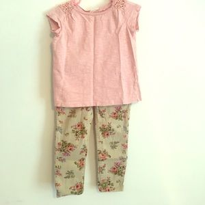 Other - Toddler girl pant with cute top. Great condition