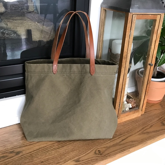 fb19d72a8 Madewell Bags | Canvas Transport Tote In British Surplus | Poshmark